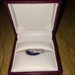 Helzberg Blue and White Sapphire Ring